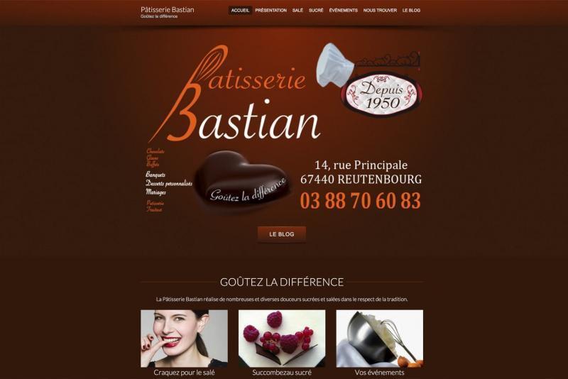 Page d'accueil du site Bastian