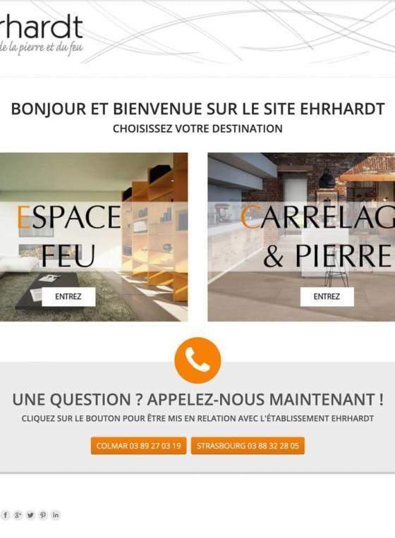 Page d'accueil du site Ehrhardt Cheminées
