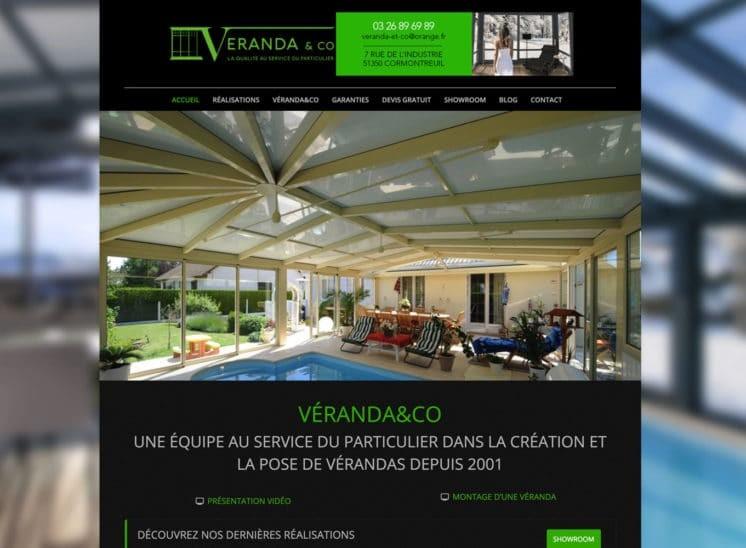 Page d'accueil du site Véranda&Co