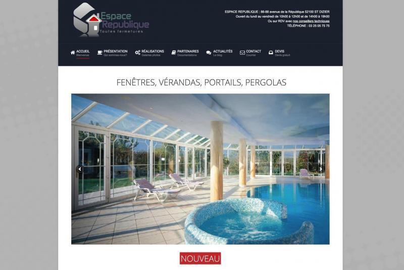 Page d'accueil du site Espace République